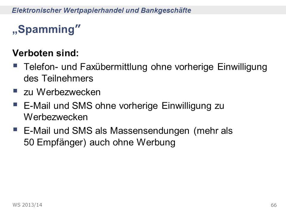 """""""Spamming Verboten sind:"""