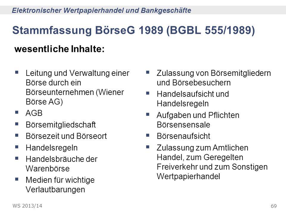 Stammfassung BörseG 1989 (BGBL 555/1989)