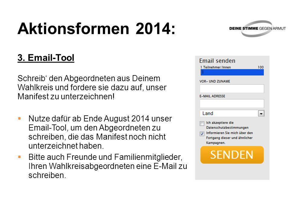 Aktionsformen 2014: 3. Email-Tool