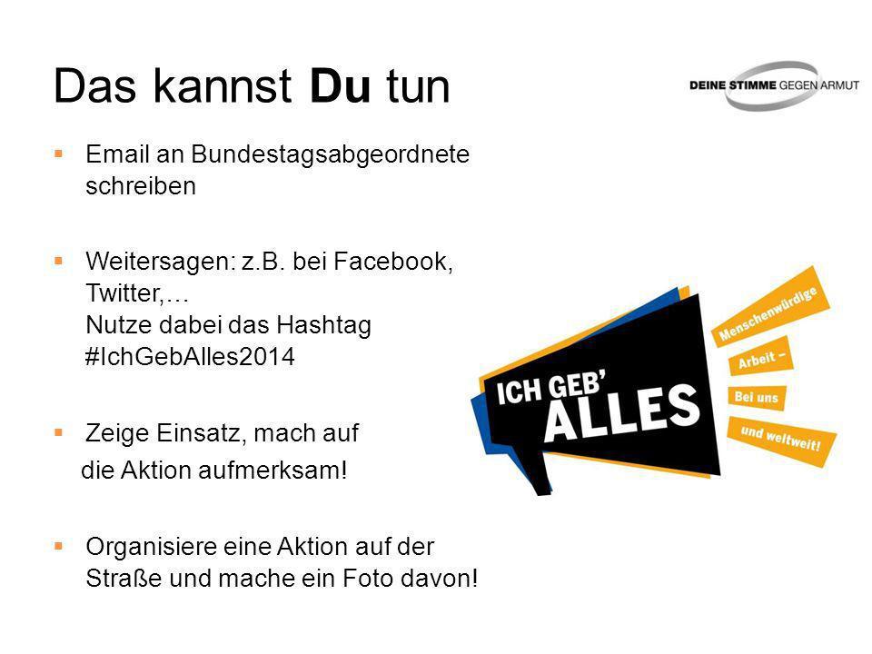Das kannst Du tun Email an Bundestagsabgeordnete schreiben