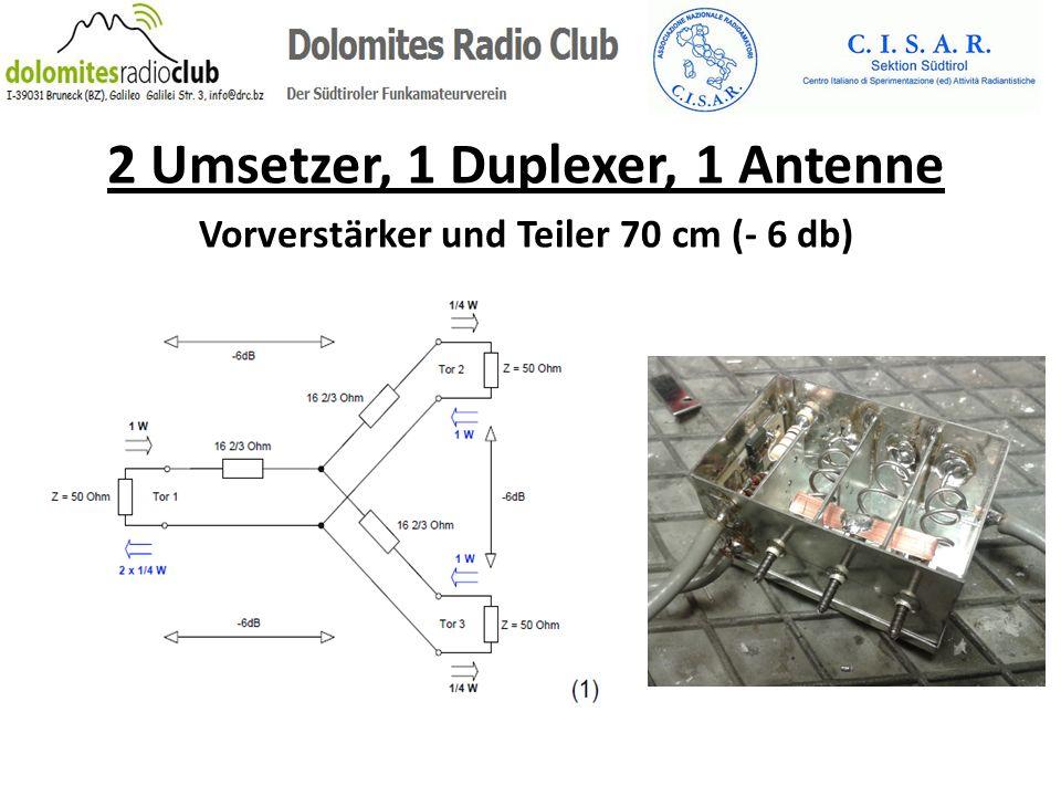 2 Umsetzer, 1 Duplexer, 1 Antenne