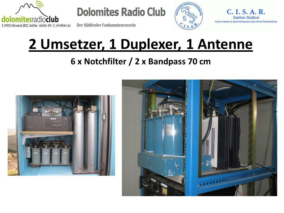 2 Umsetzer, 1 Duplexer, 1 Antenne 6 x Notchfilter / 2 x Bandpass 70 cm