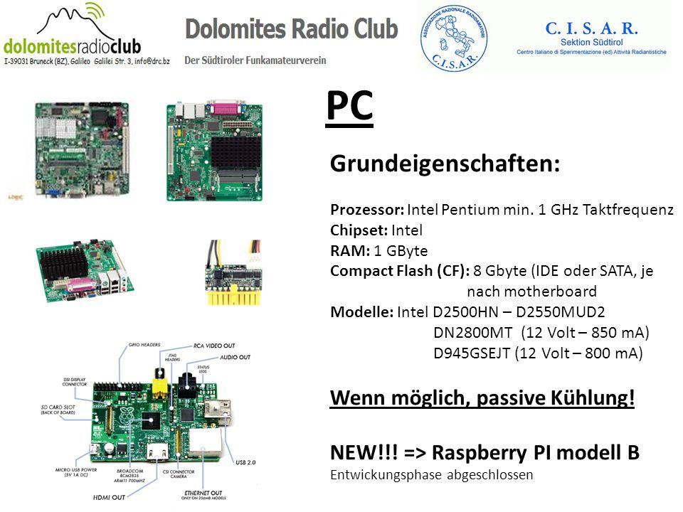PC Grundeigenschaften: Wenn möglich, passive Kühlung!