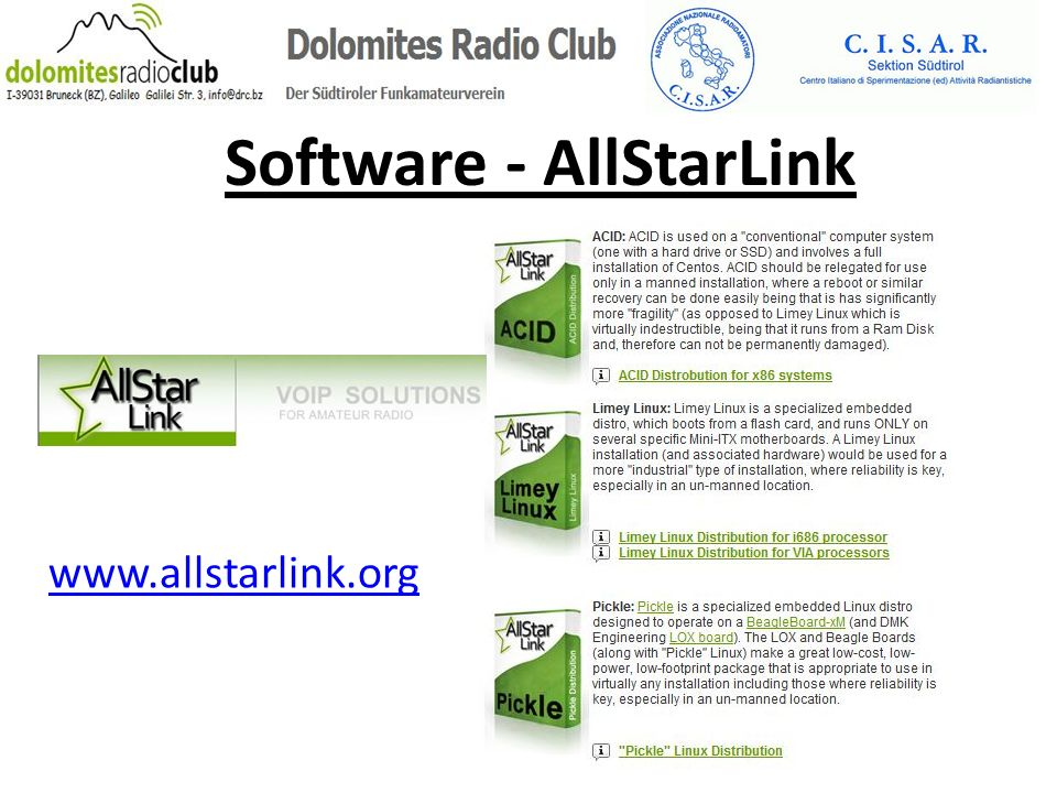Software - AllStarLink