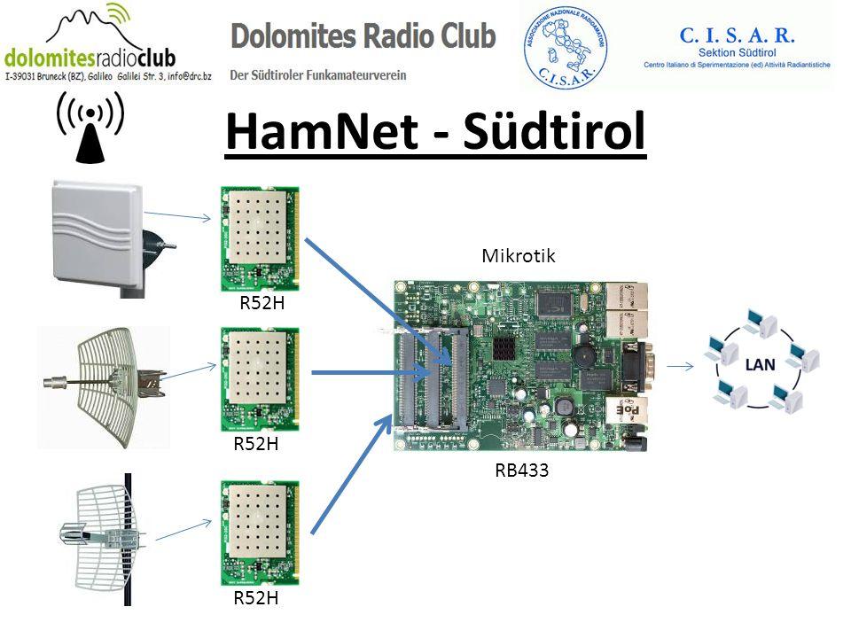 HamNet - Südtirol Mikrotik R52H R52H RB433 R52H