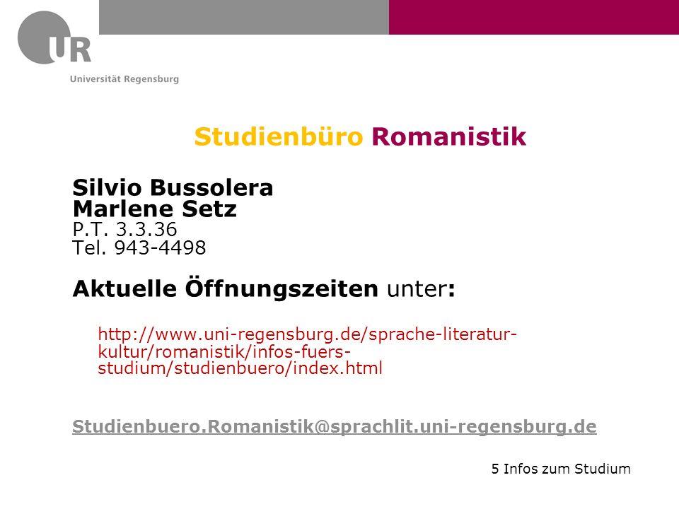 Studienbüro Romanistik