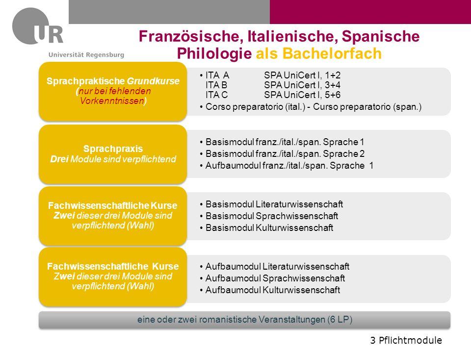 Französische, Italienische, Spanische Philologie als Bachelorfach