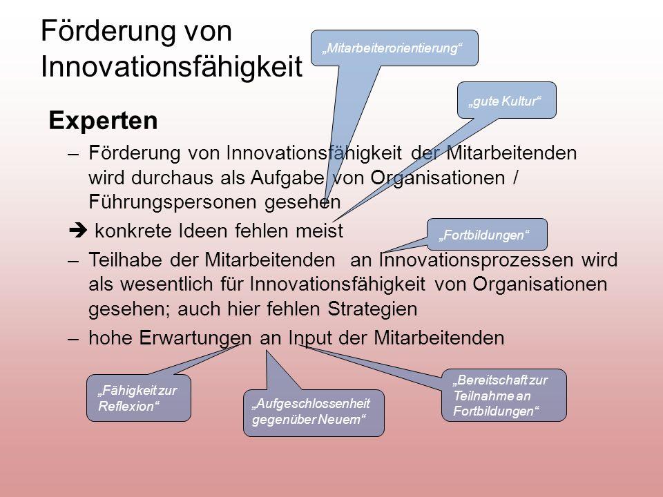 Förderung von Innovationsfähigkeit