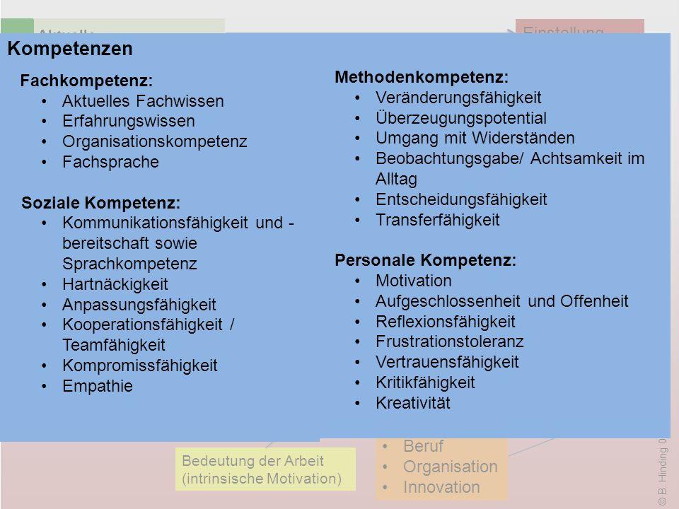 Organisation Organisation Kompetenzen Einstellung Methodenkompetenz: