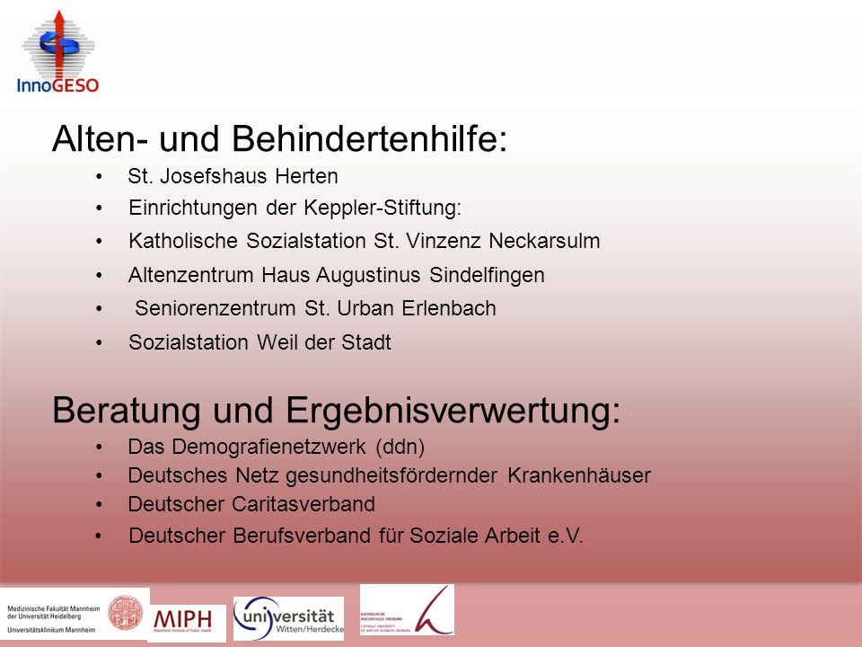 Alten- und Behindertenhilfe: