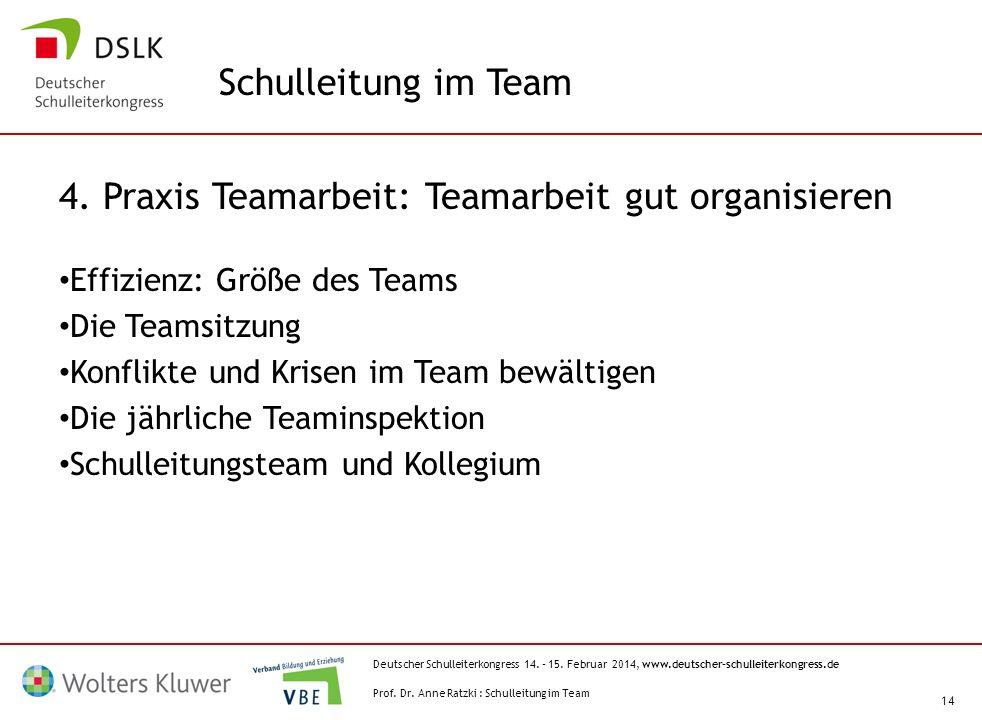 4. Praxis Teamarbeit: Teamarbeit gut organisieren