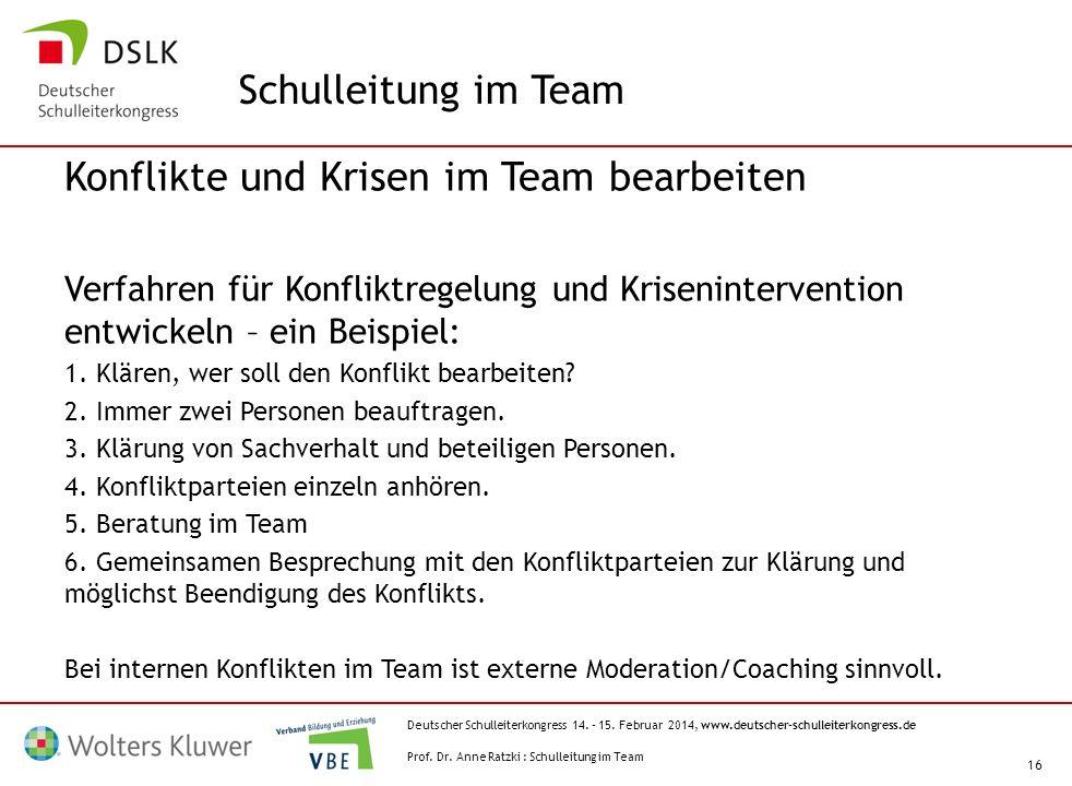 Konflikte und Krisen im Team bearbeiten