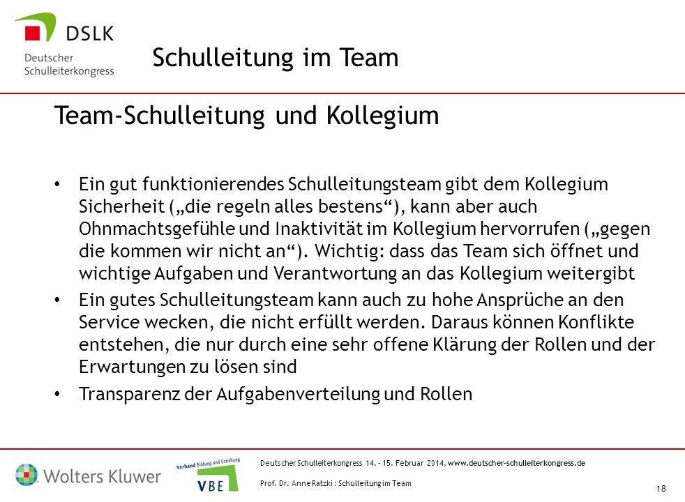 Team-Schulleitung und Kollegium