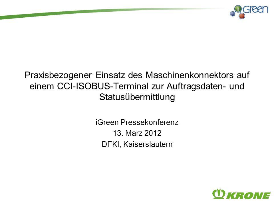 iGreen Pressekonferenz 13. März 2012 DFKI, Kaiserslautern