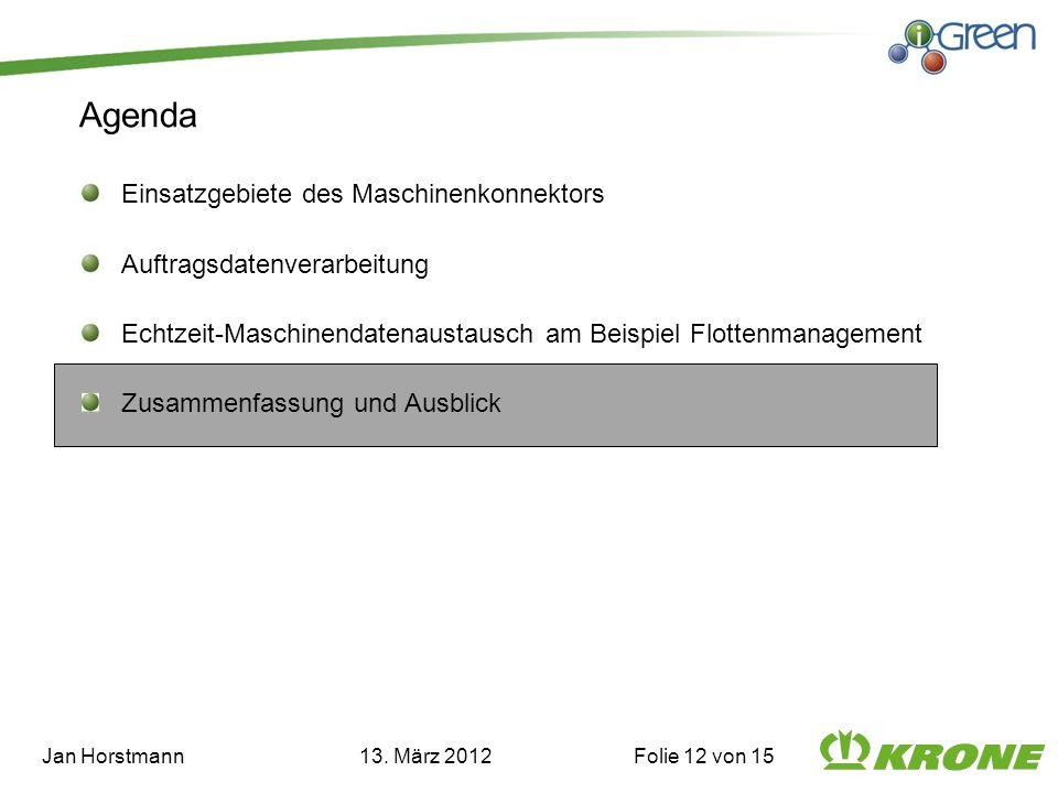 Jan Horstmann 13. März 2012 Folie 12 von 15