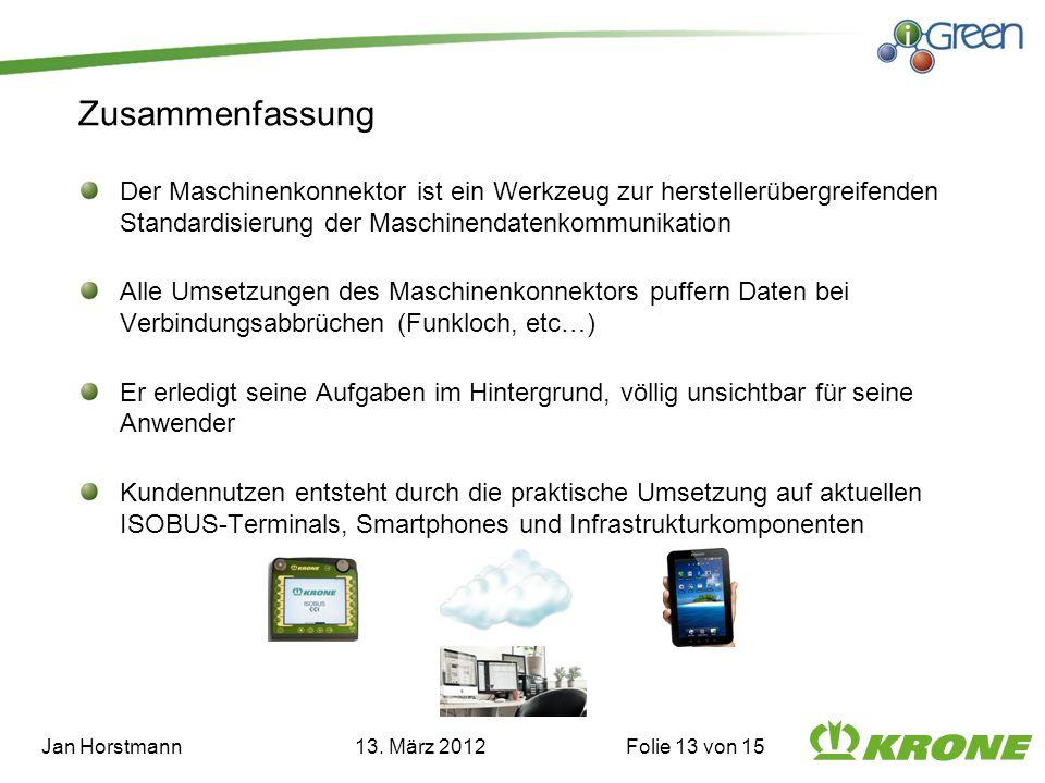 Jan Horstmann 13. März 2012 Folie 13 von 15