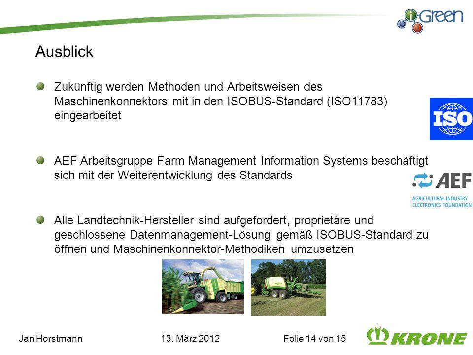 Jan Horstmann 13. März 2012 Folie 14 von 15