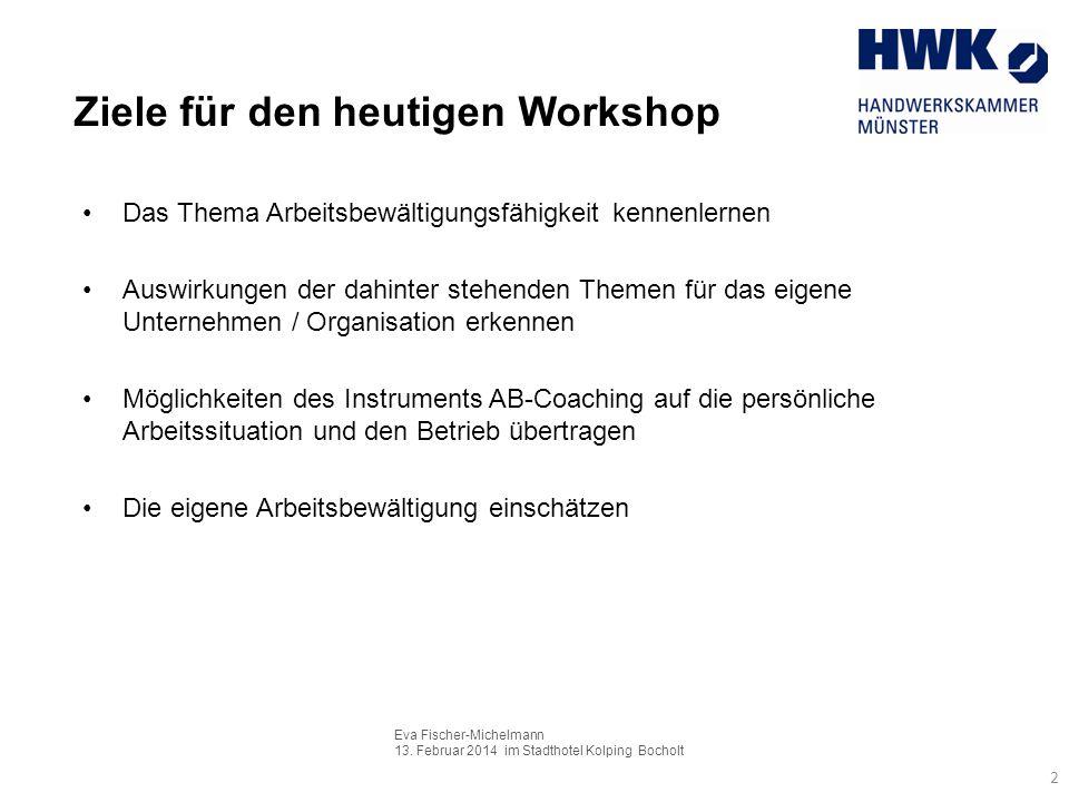 Ziele für den heutigen Workshop