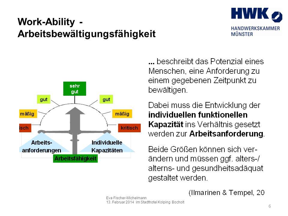 Work-Ability - Arbeitsbewältigungsfähigkeit