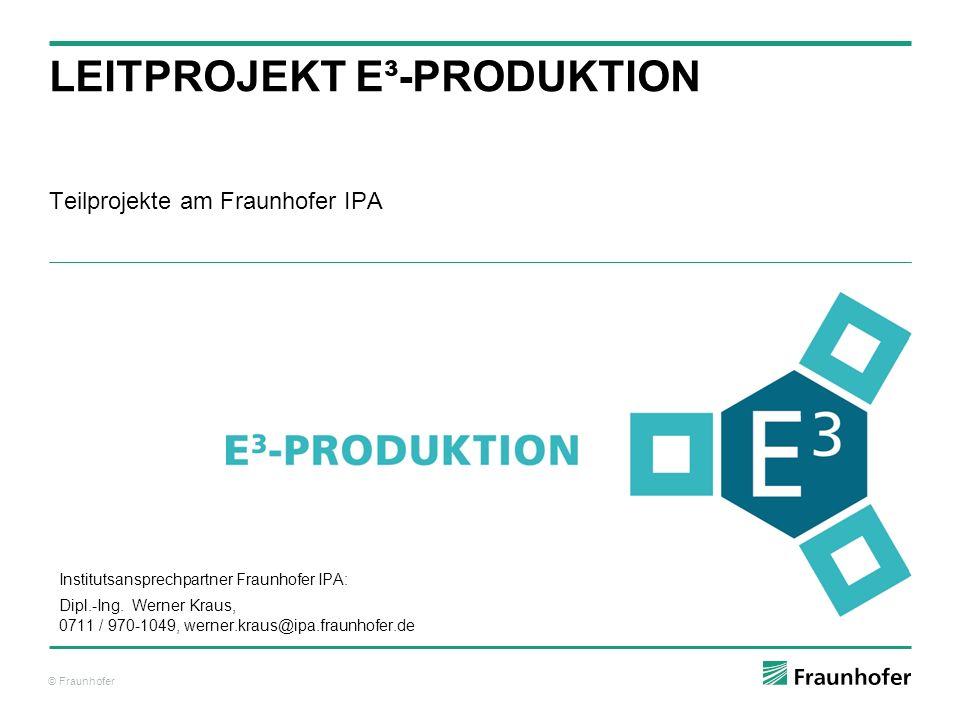 Leitprojekt e³-Produktion