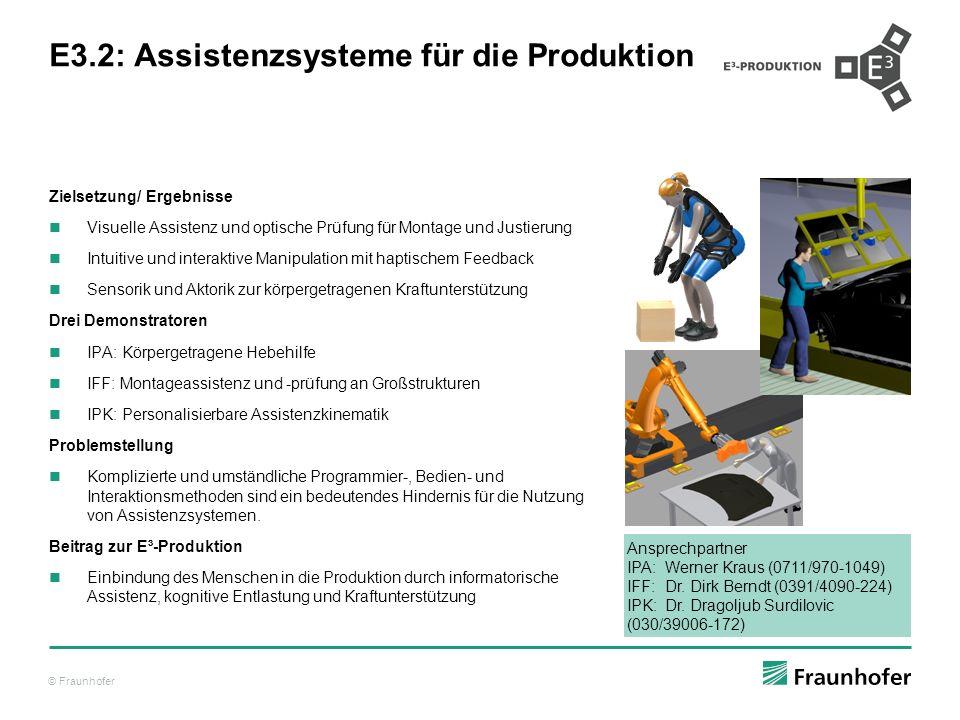 E3.2: Assistenzsysteme für die Produktion