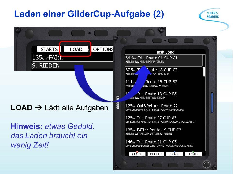 Laden einer GliderCup-Aufgabe (2)