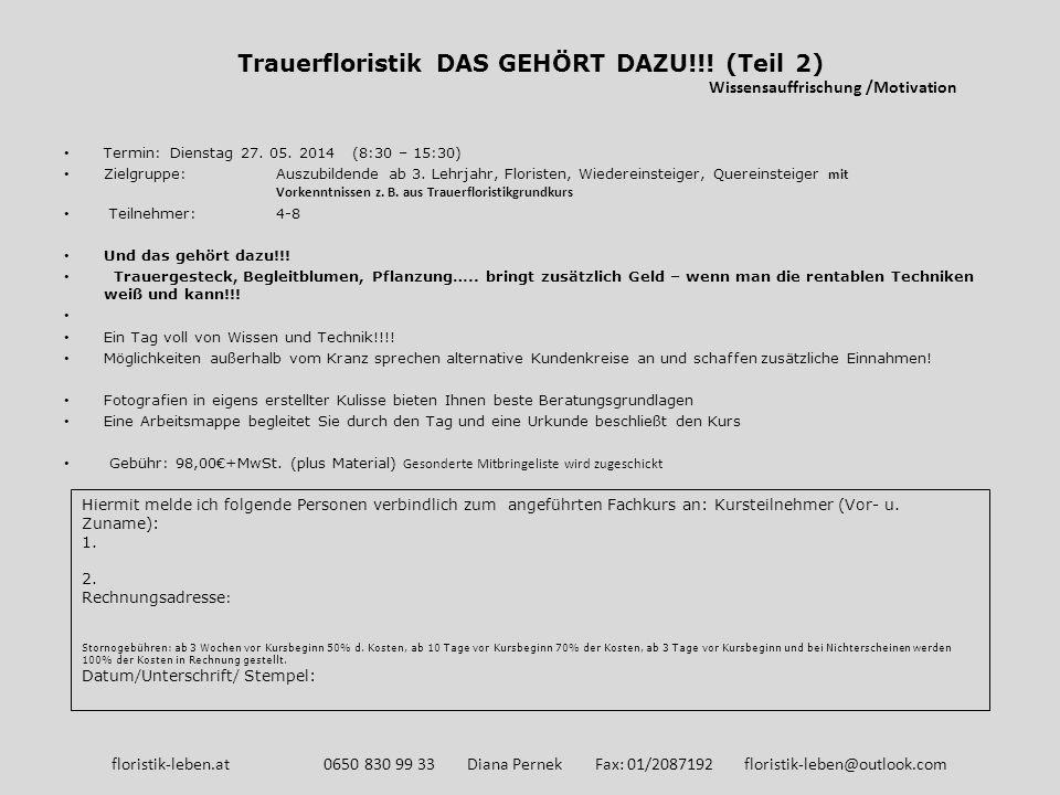 Trauerfloristik DAS GEHÖRT DAZU!!! (Teil 2)