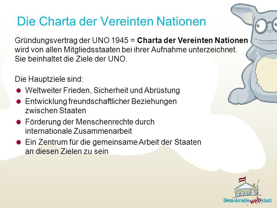 Die Charta der Vereinten Nationen
