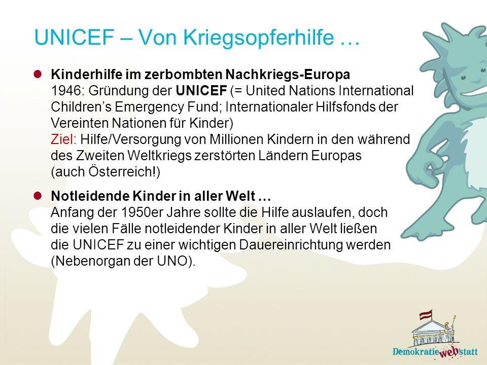 UNICEF – Von Kriegsopferhilfe …