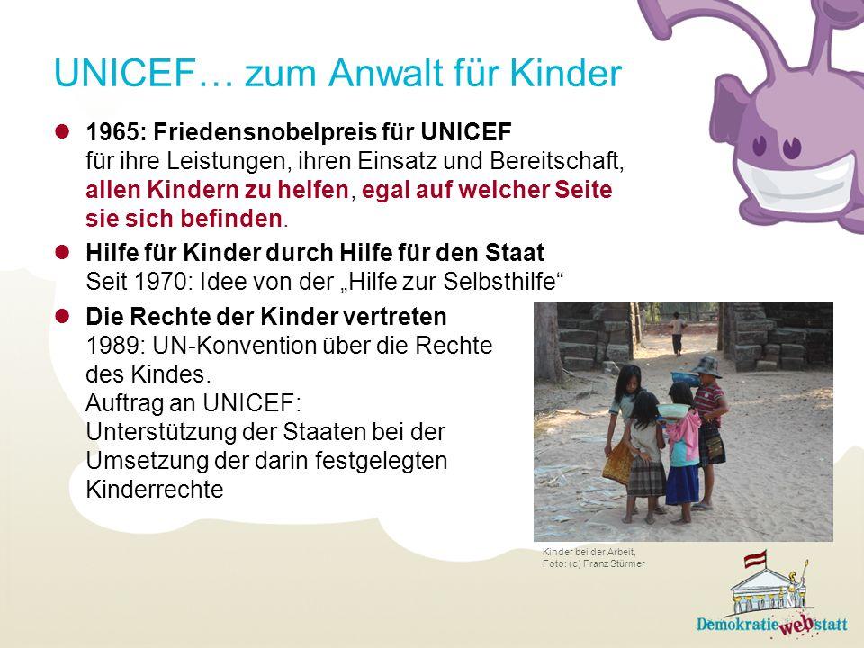 UNICEF… zum Anwalt für Kinder