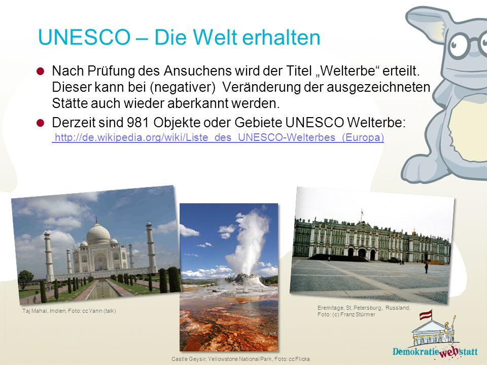 UNESCO – Die Welt erhalten