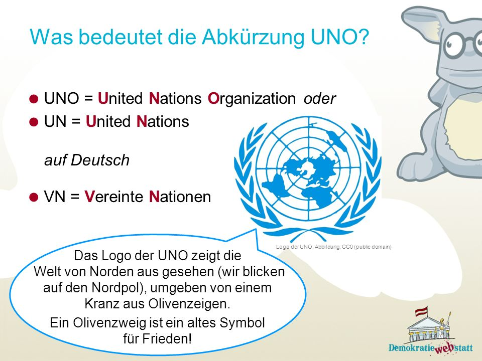 Was bedeutet die Abkürzung UNO