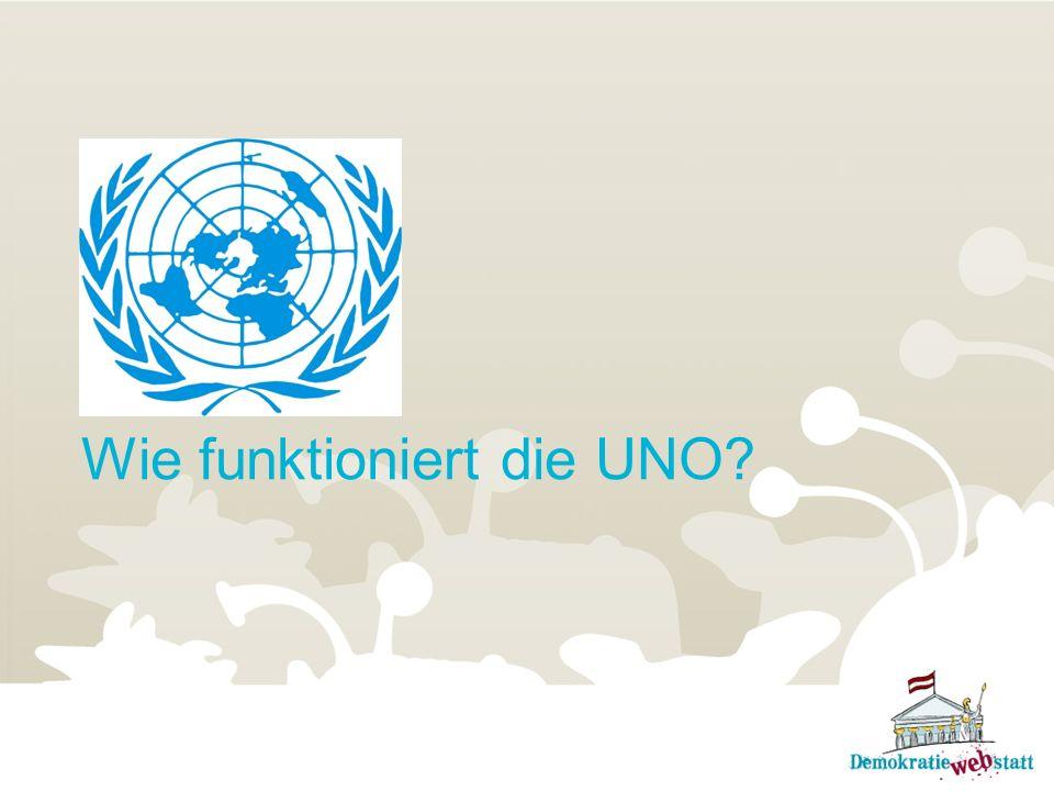 Wie funktioniert die UNO