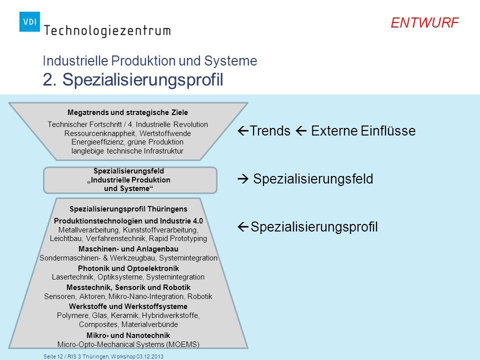 Industrielle Produktion und Systeme 2. Spezialisierungsprofil