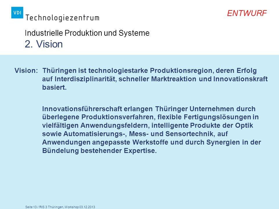 Industrielle Produktion und Systeme 2. Vision