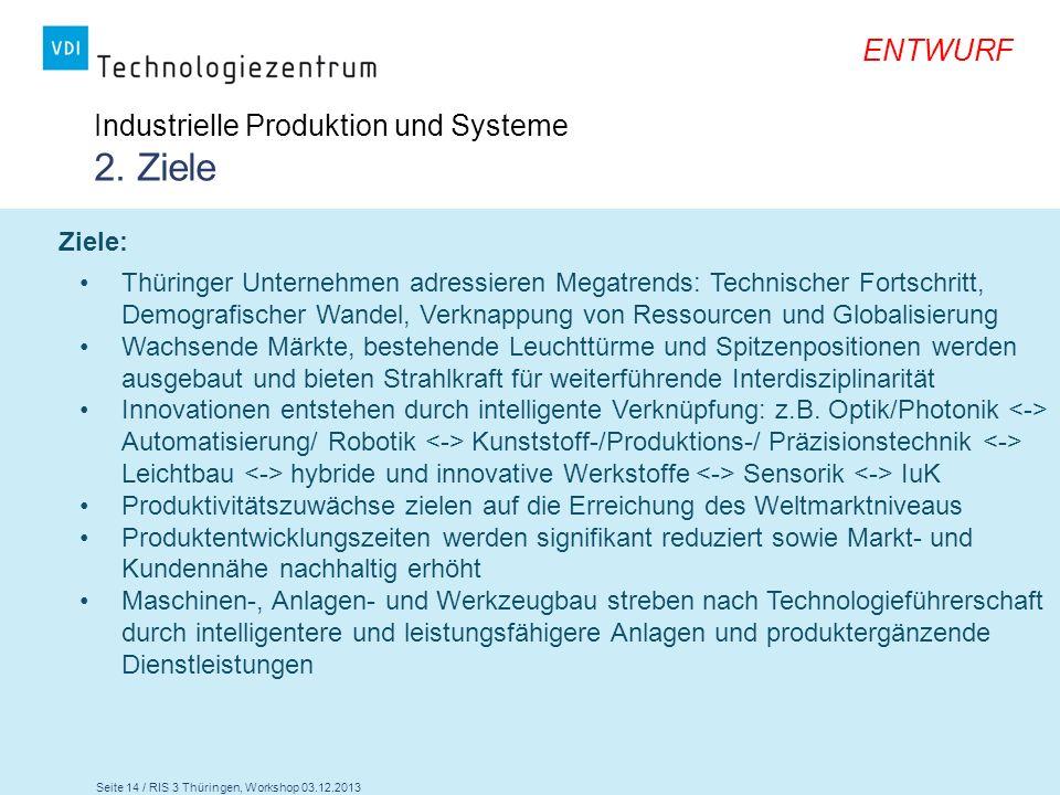 Industrielle Produktion und Systeme 2. Ziele