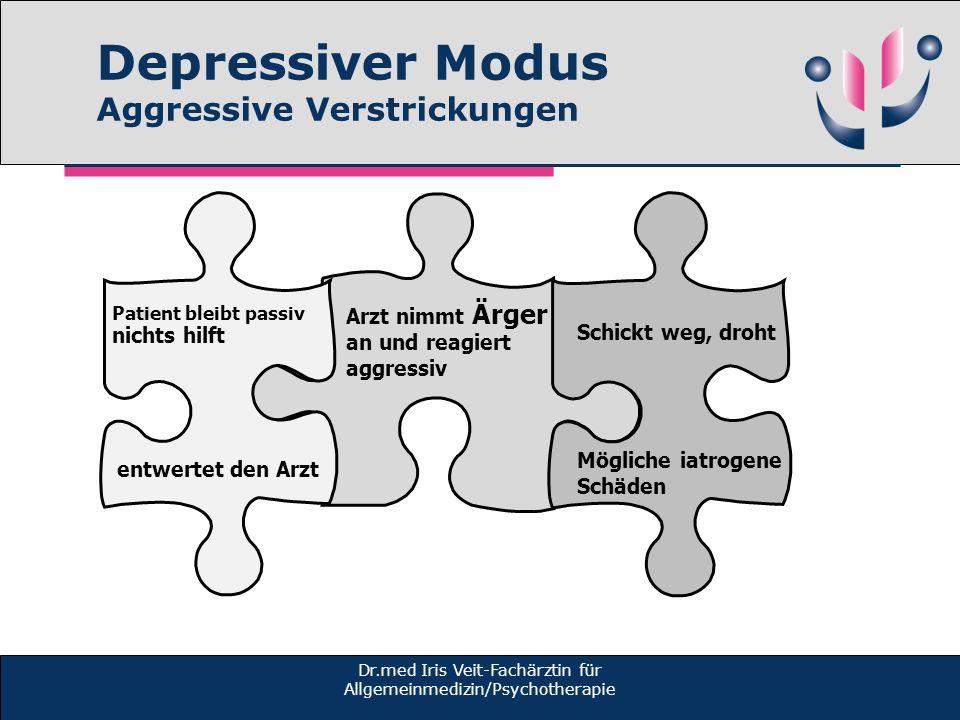 Depressiver Modus Aggressive Verstrickungen