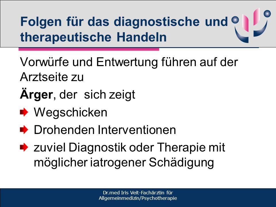 Folgen für das diagnostische und therapeutische Handeln