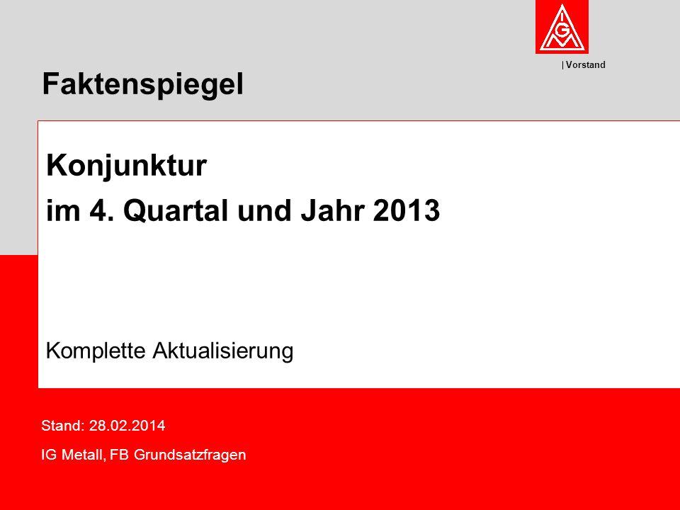 Stand: 28.02.2014 IG Metall, FB Grundsatzfragen