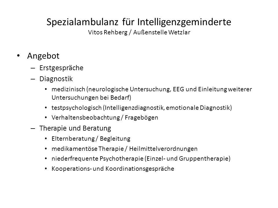 Spezialambulanz für Intelligenzgeminderte Vitos Rehberg / Außenstelle Wetzlar