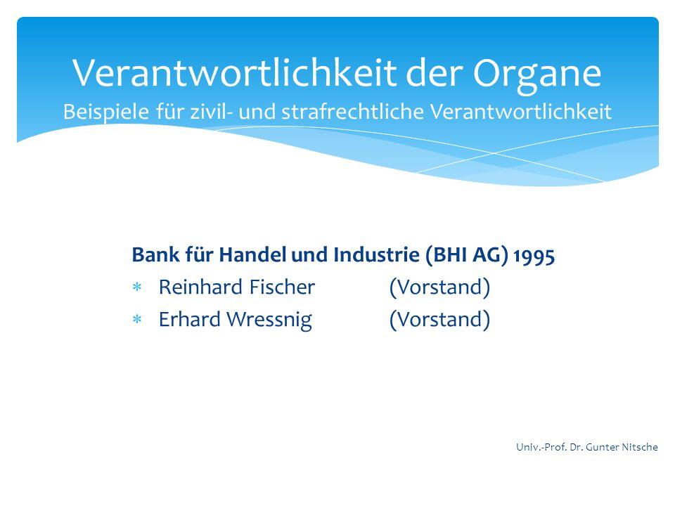 Bank für Handel und Industrie (BHI AG) 1995