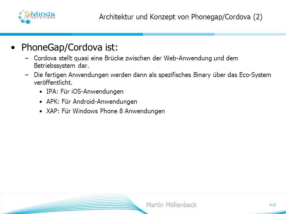 Architektur und Konzept von Phonegap/Cordova (2)