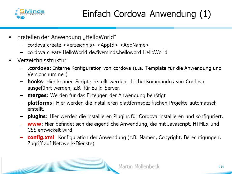 Einfach Cordova Anwendung (1)