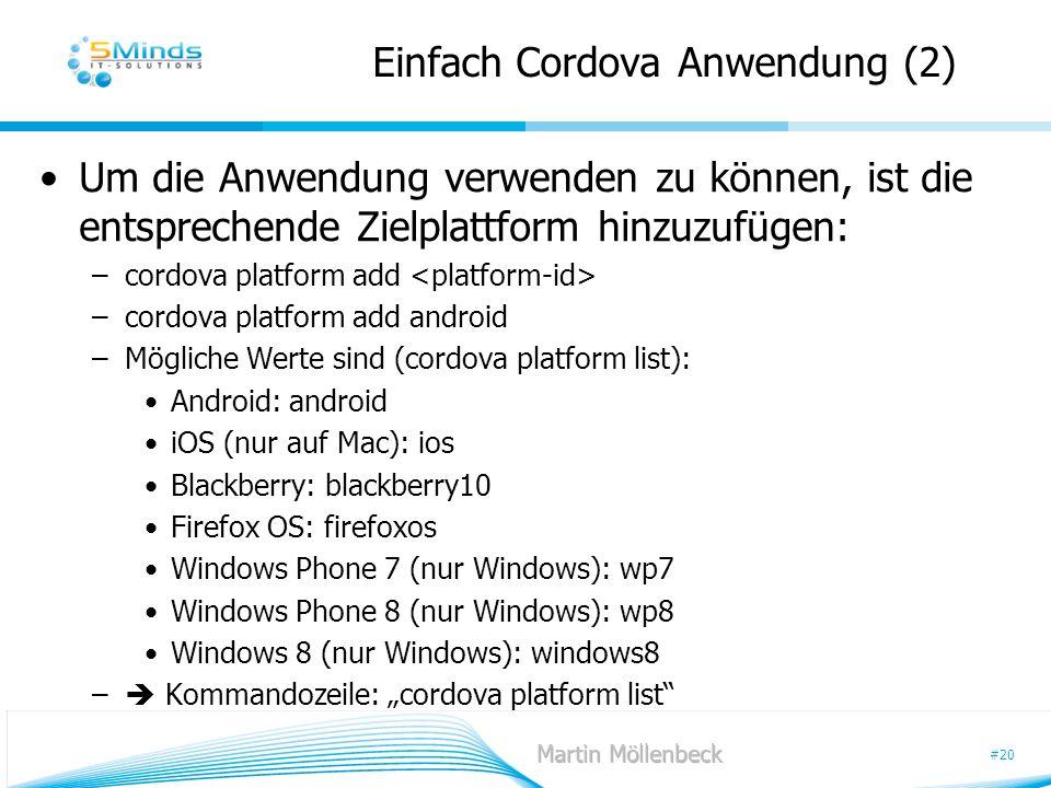 Einfach Cordova Anwendung (2)