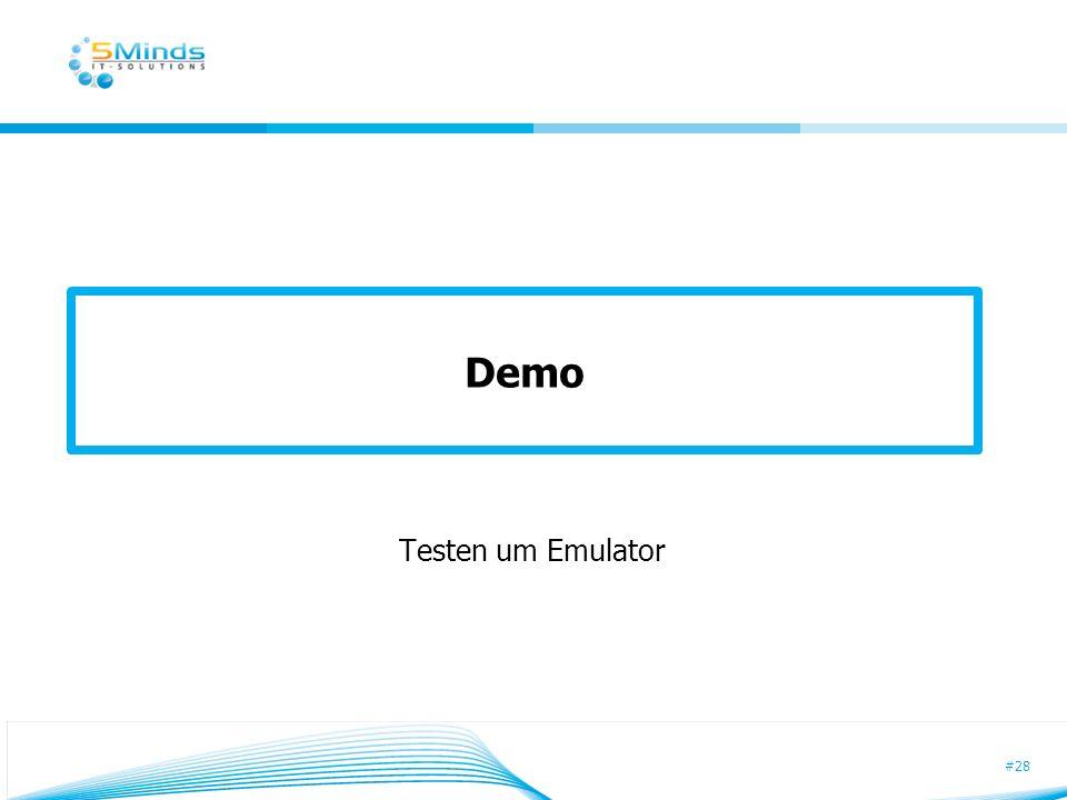 Demo Testen um Emulator