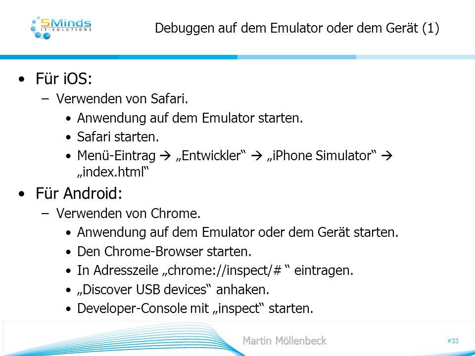 Debuggen auf dem Emulator oder dem Gerät (1)