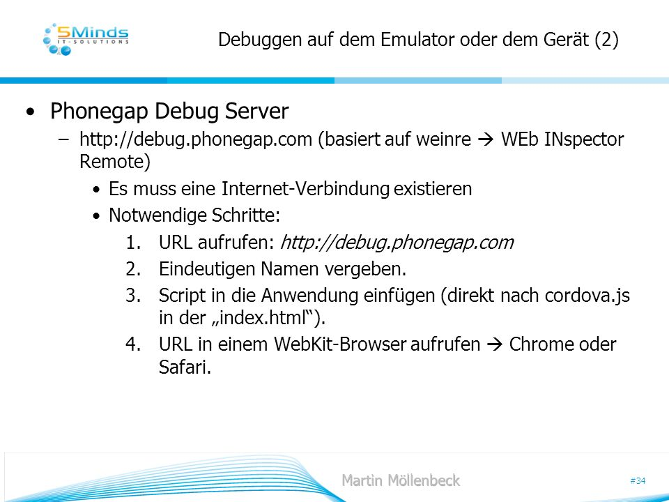 Debuggen auf dem Emulator oder dem Gerät (2)