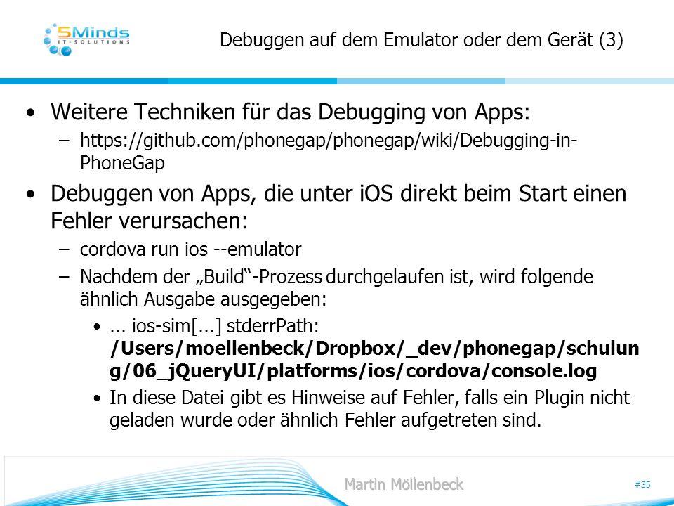 Debuggen auf dem Emulator oder dem Gerät (3)