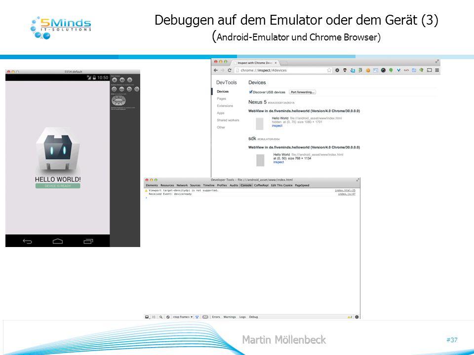 Debuggen auf dem Emulator oder dem Gerät (3) (Android-Emulator und Chrome Browser)