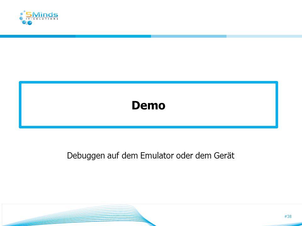 Debuggen auf dem Emulator oder dem Gerät
